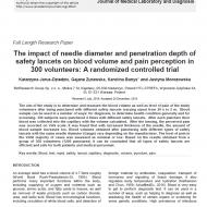 The impact of needle diameter... cover