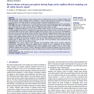 Blood volume and pain perception during finger prick capillary blood sampling are all safety lancets equal
