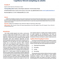 Capillary blood sampling in adults